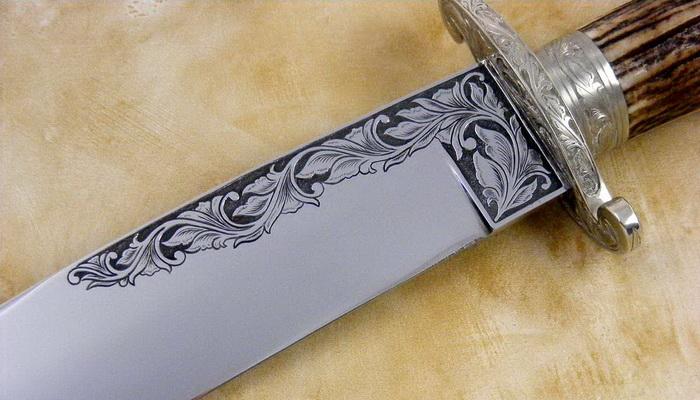 Как сделать узор на клинке ножа